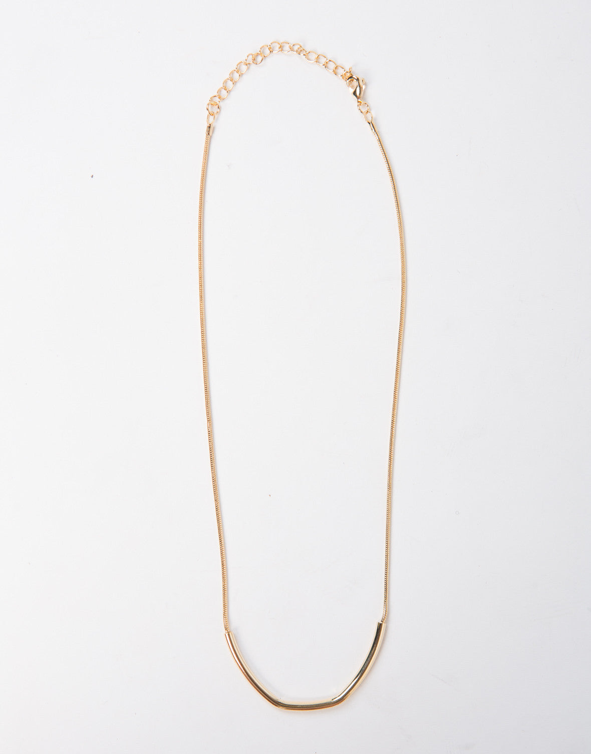 Golden Curved Bar Necklace - 2020AVE