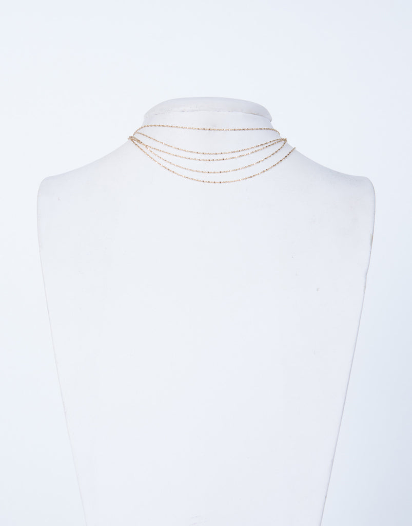Golden Layered Chain Choker