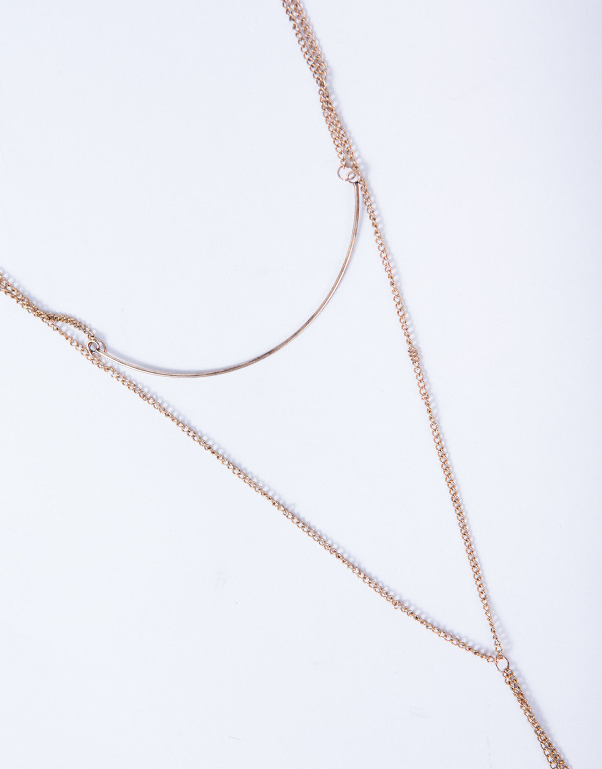 Golden Layered Choker Necklace