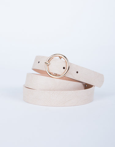 Golden Ring Leather Belt
