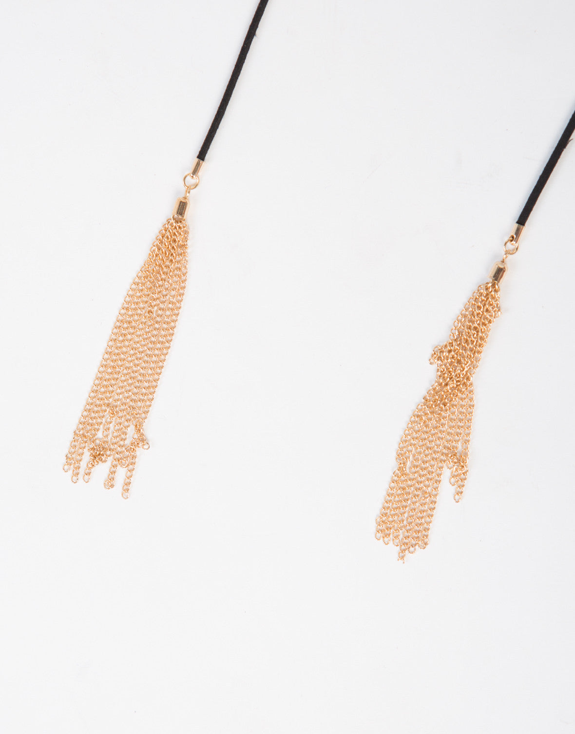 Golden Tassel Bolo Necklace