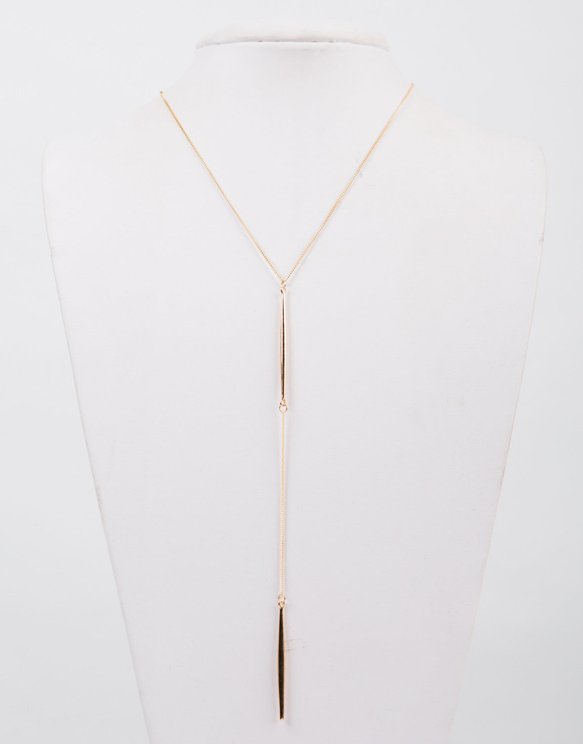 Golden Double Bar Necklace - 2020AVE