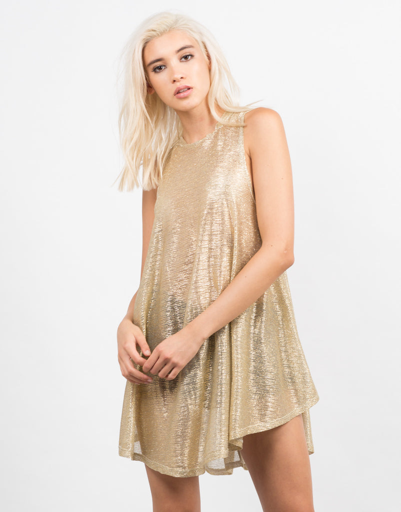 Golden Flakes Party Dress - 2020AVE