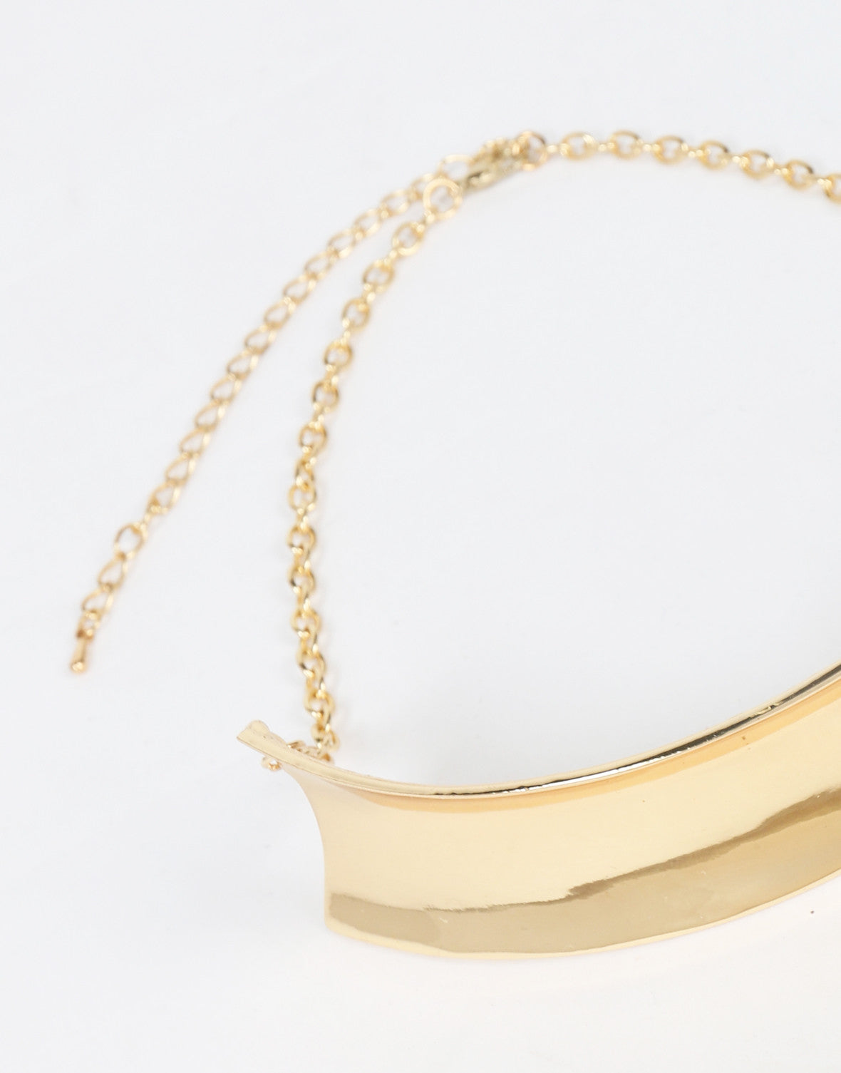 Golden Half Collar Necklace