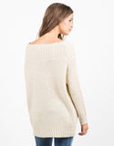 Back View of Golden Knit Swewater