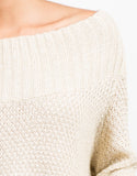 Detail of Golden Knit Swewater