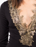 Detail of Golden Rose Bodysuit