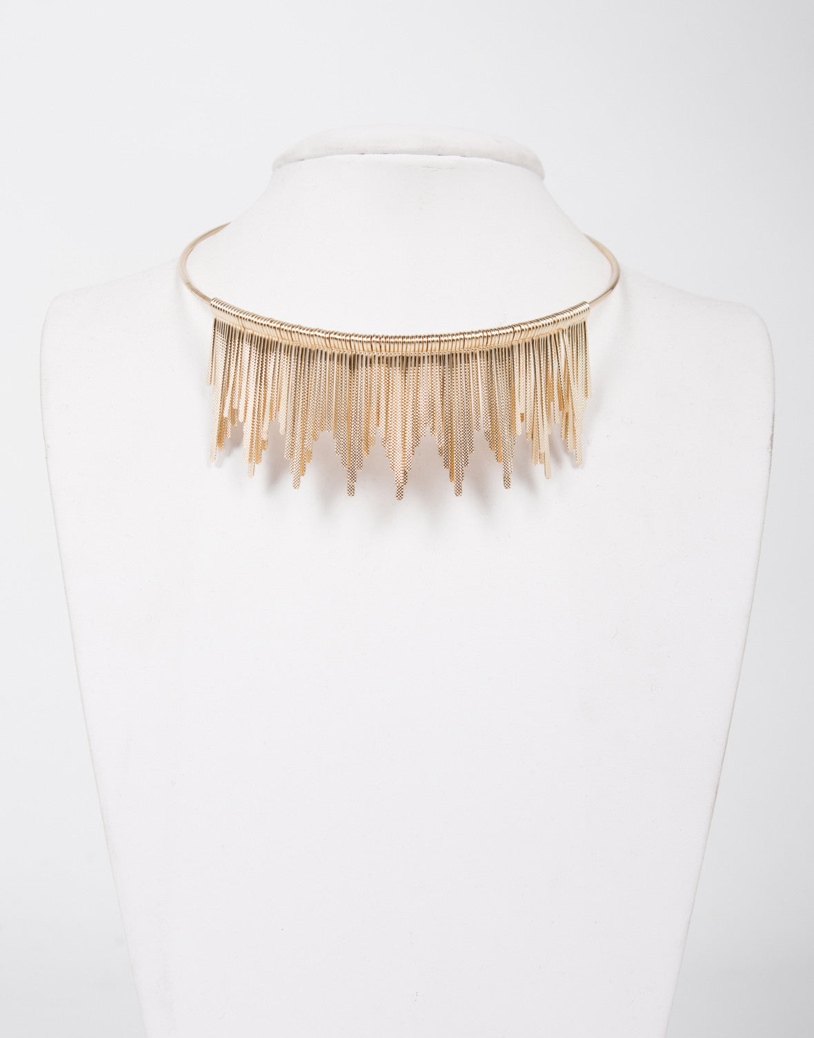 Golden Sun Collar Necklace
