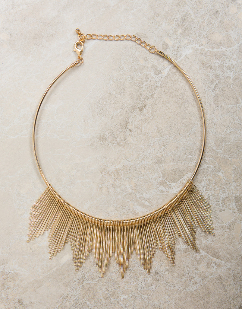 Golden Sun Collar Necklace - 2020AVE