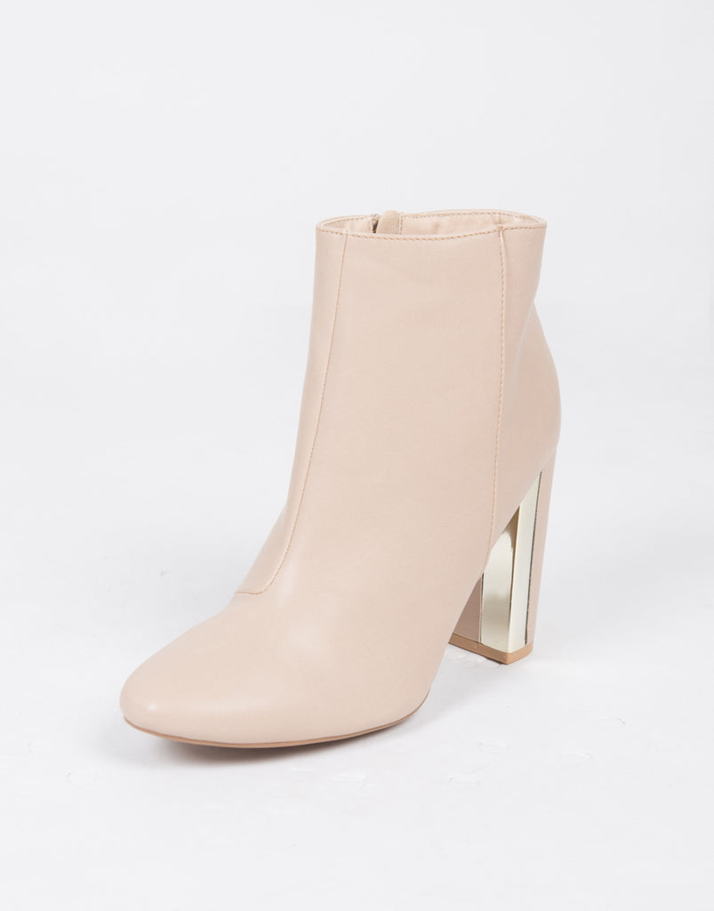 Gold Plated Ankle Boots - 2020AVE