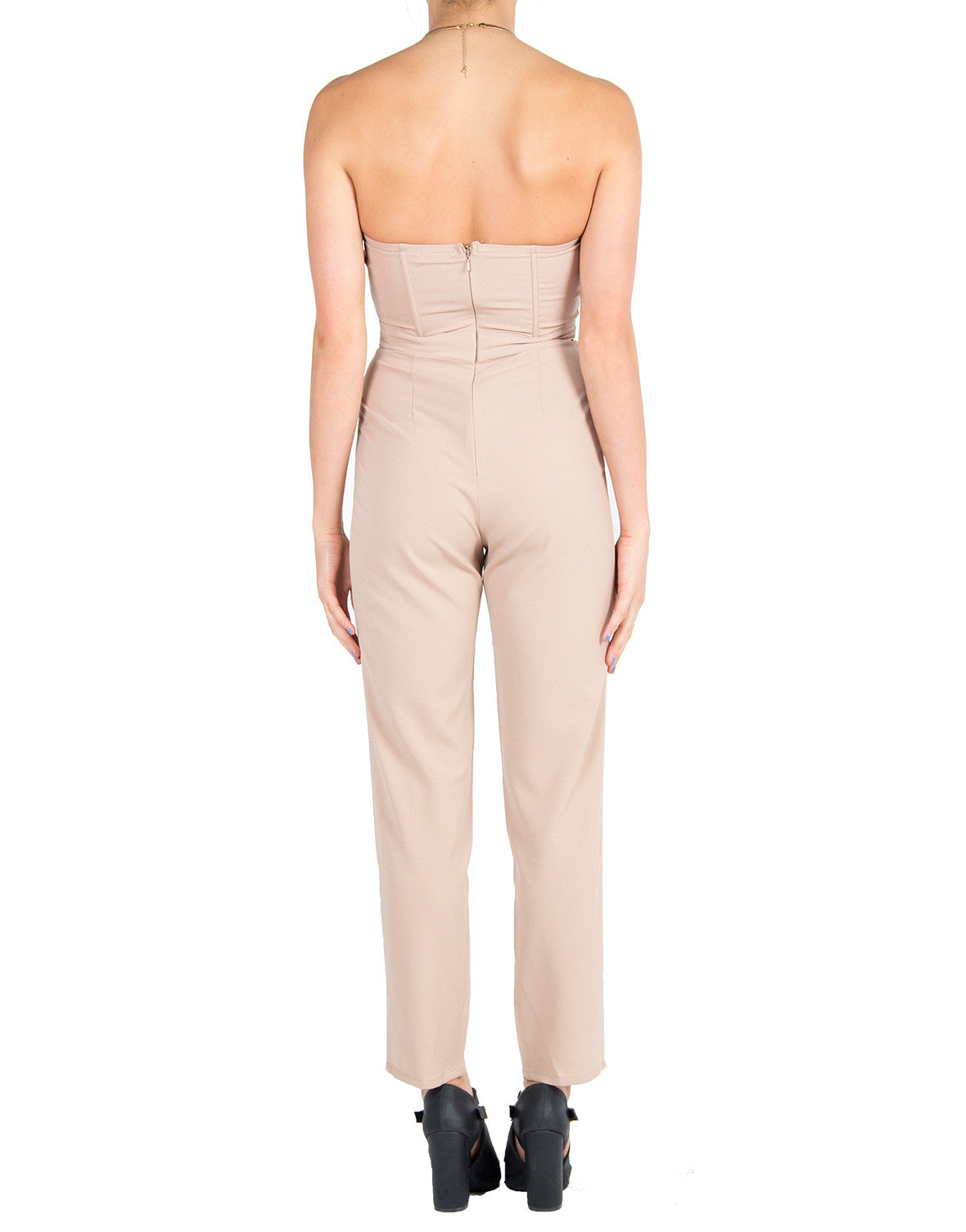 Gold Plated Jumpsuit - Nude