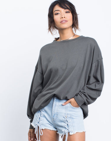 Grace Lace-Up Sweater - 2020AVE