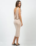 Back View of Grecian Midi Dress