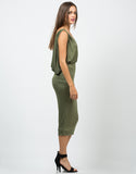 Side View of Grecian Midi Dress