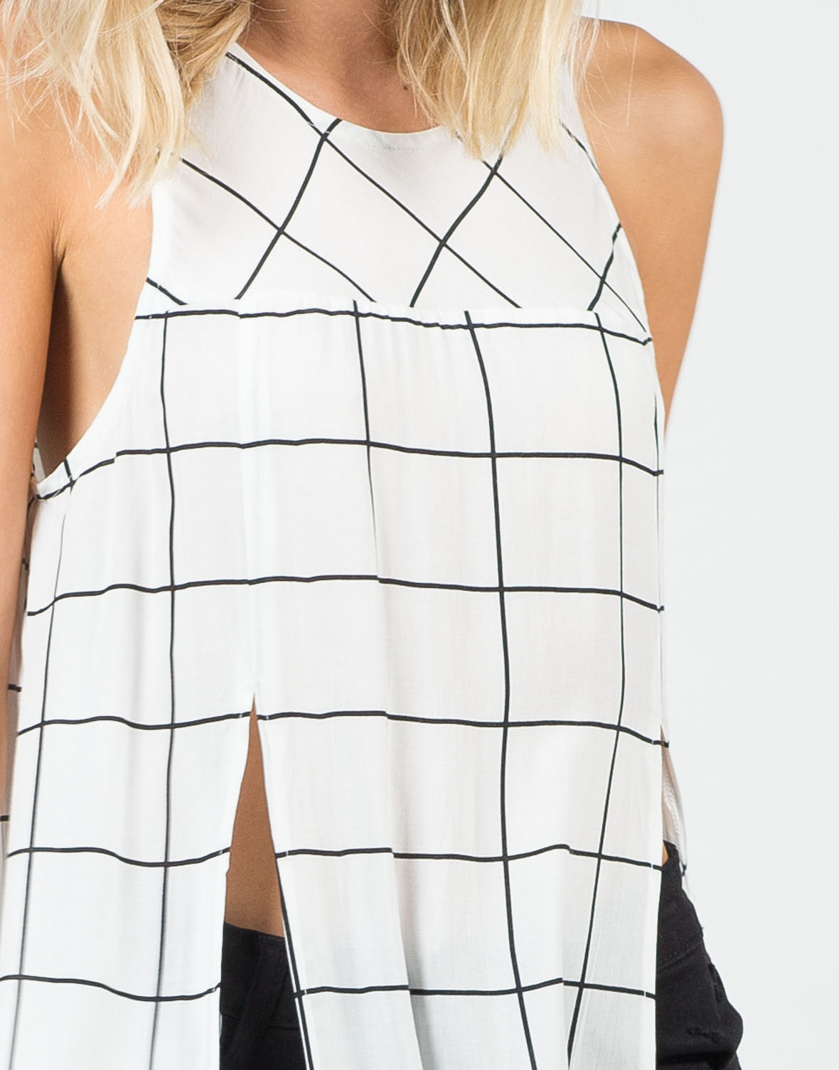 Detail of Gridline Shirt Dress