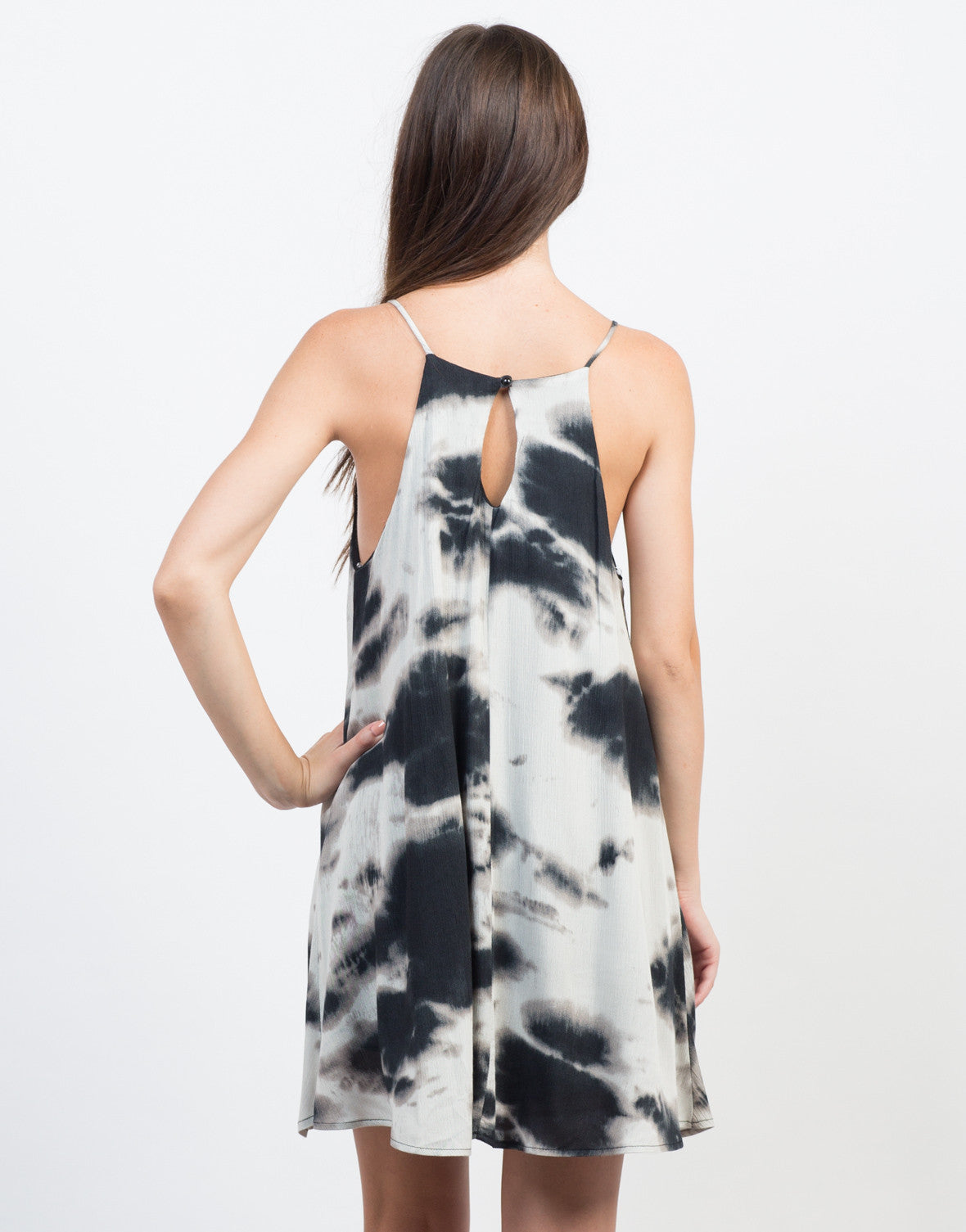Back View of Groovy Spin Flowy Dress