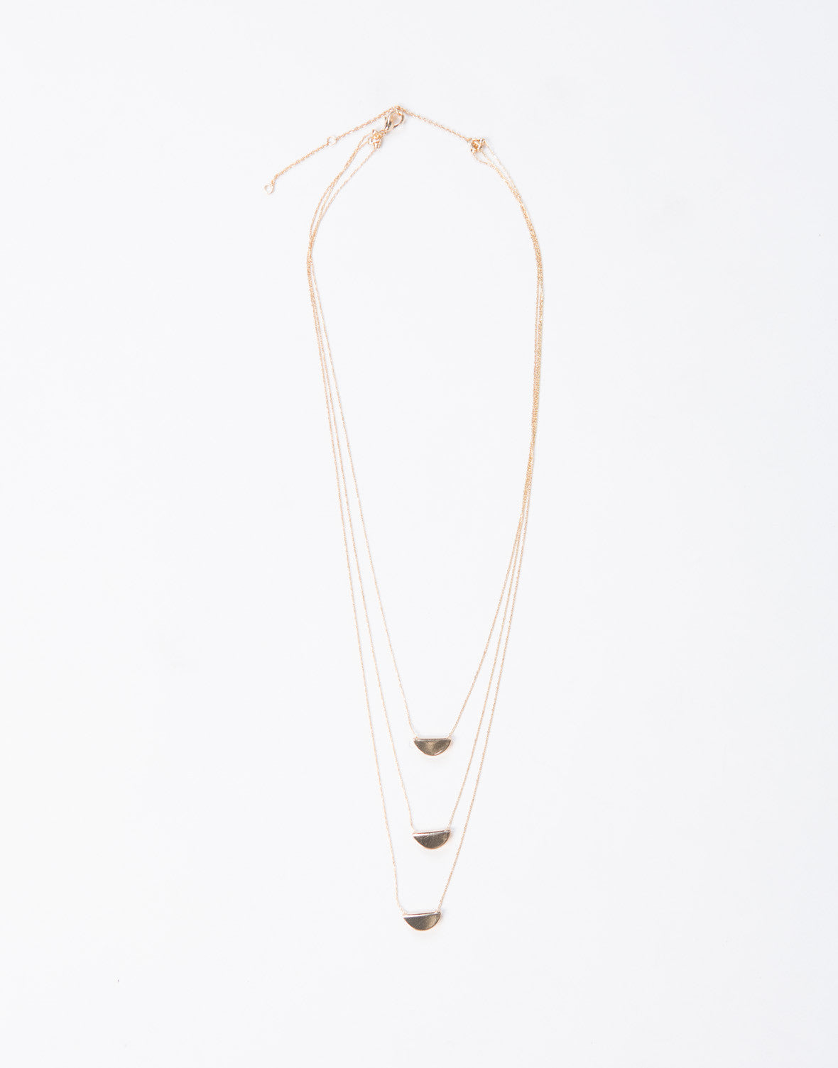 Half Moon Layered Necklace