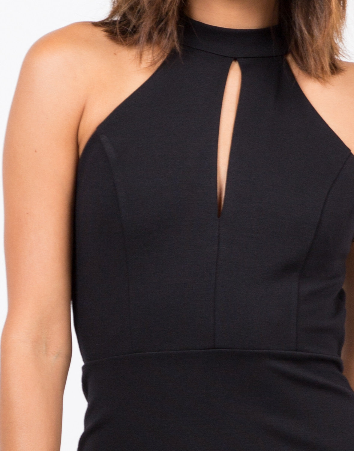Detail of Halter Cut Out Dress
