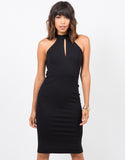 Front View of Halter Cut Out Dress