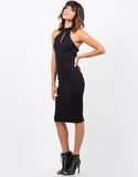 Side View of Halter Cut Out Dress