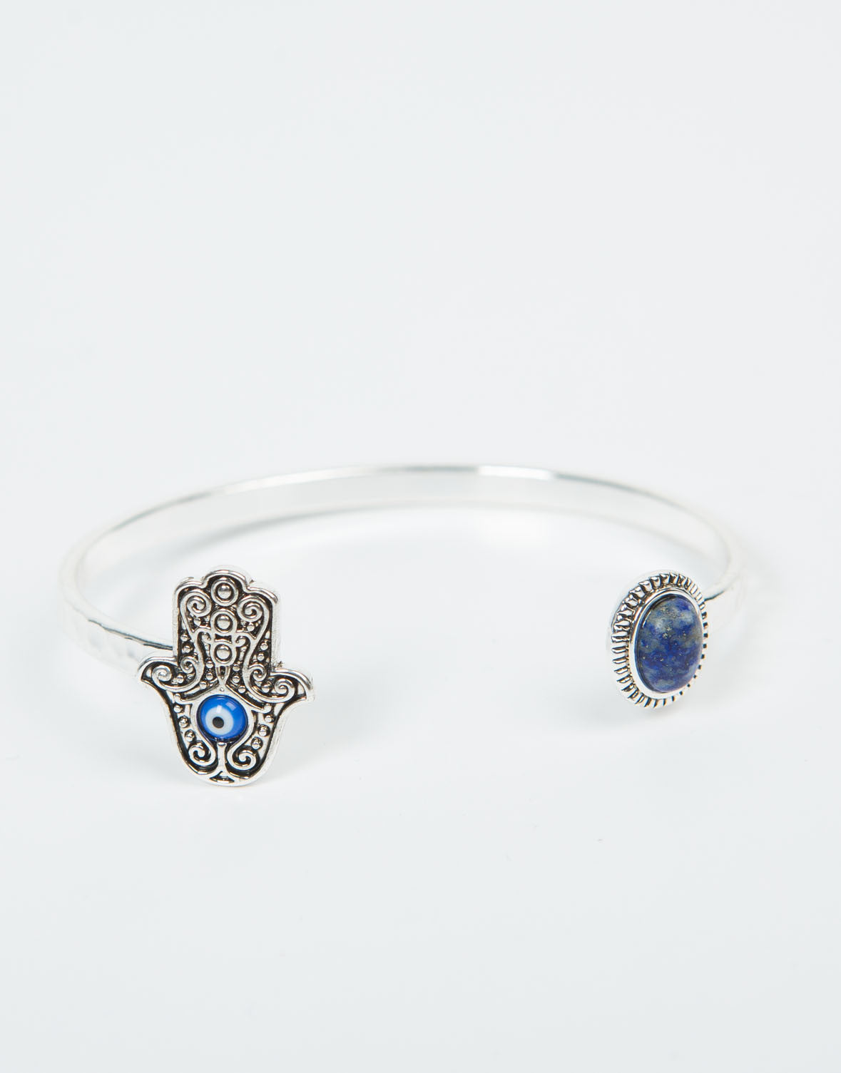 Front View of Hamsa Open Cuff Bracelet