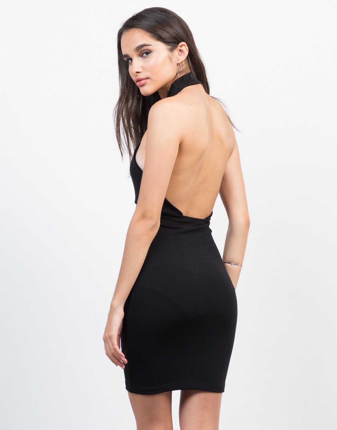Back View of Have A Hold On Me Keyhole Dress