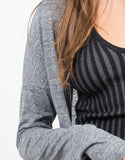 Detail of Heathered Long Cardigan