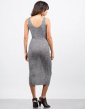 Back View of Heathered Midi Dress