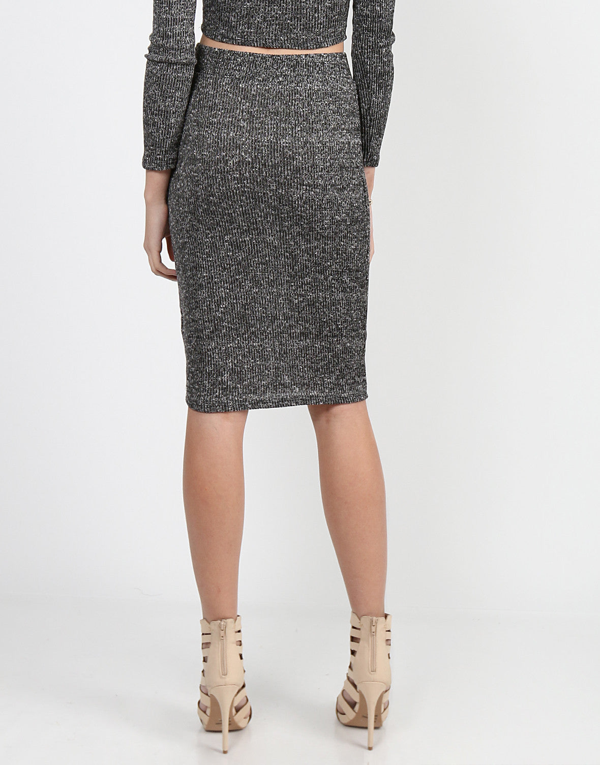 Heathered Pencil Skirt - 2020AVE