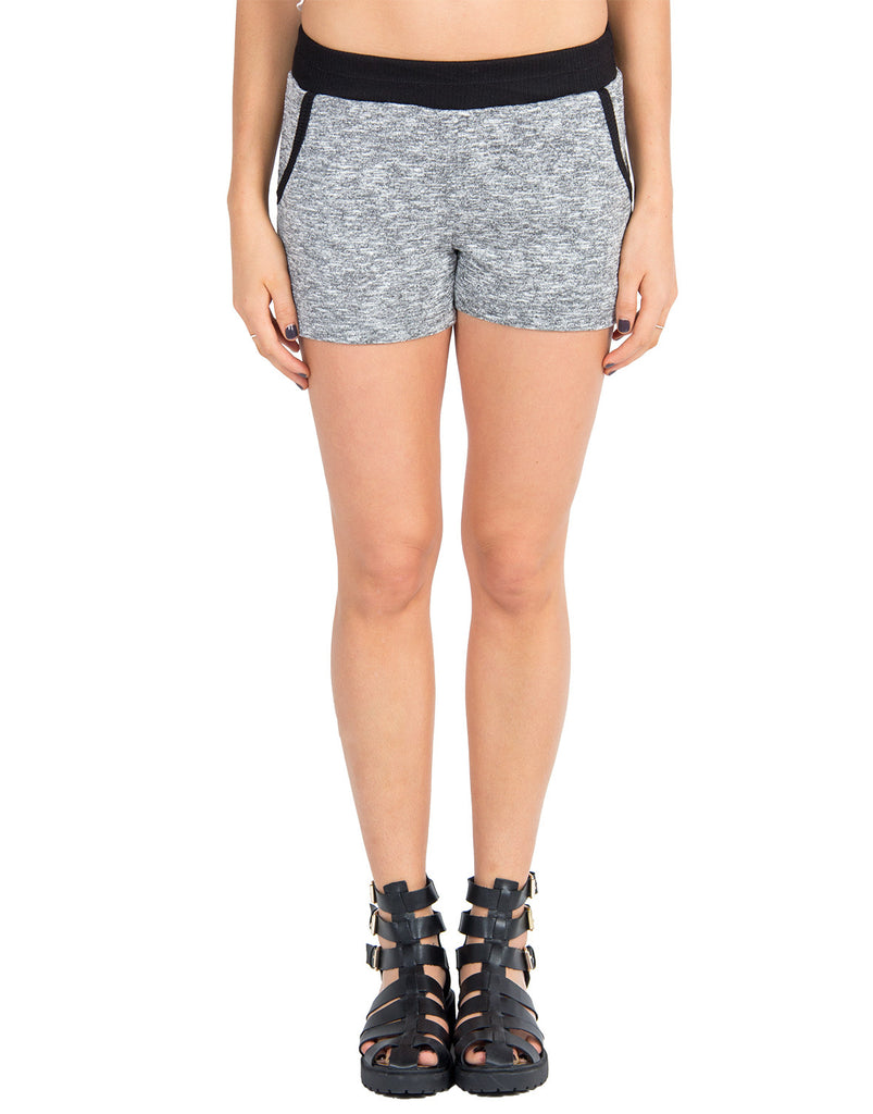 Heathered Solid Trim Shorts - 2020AVE