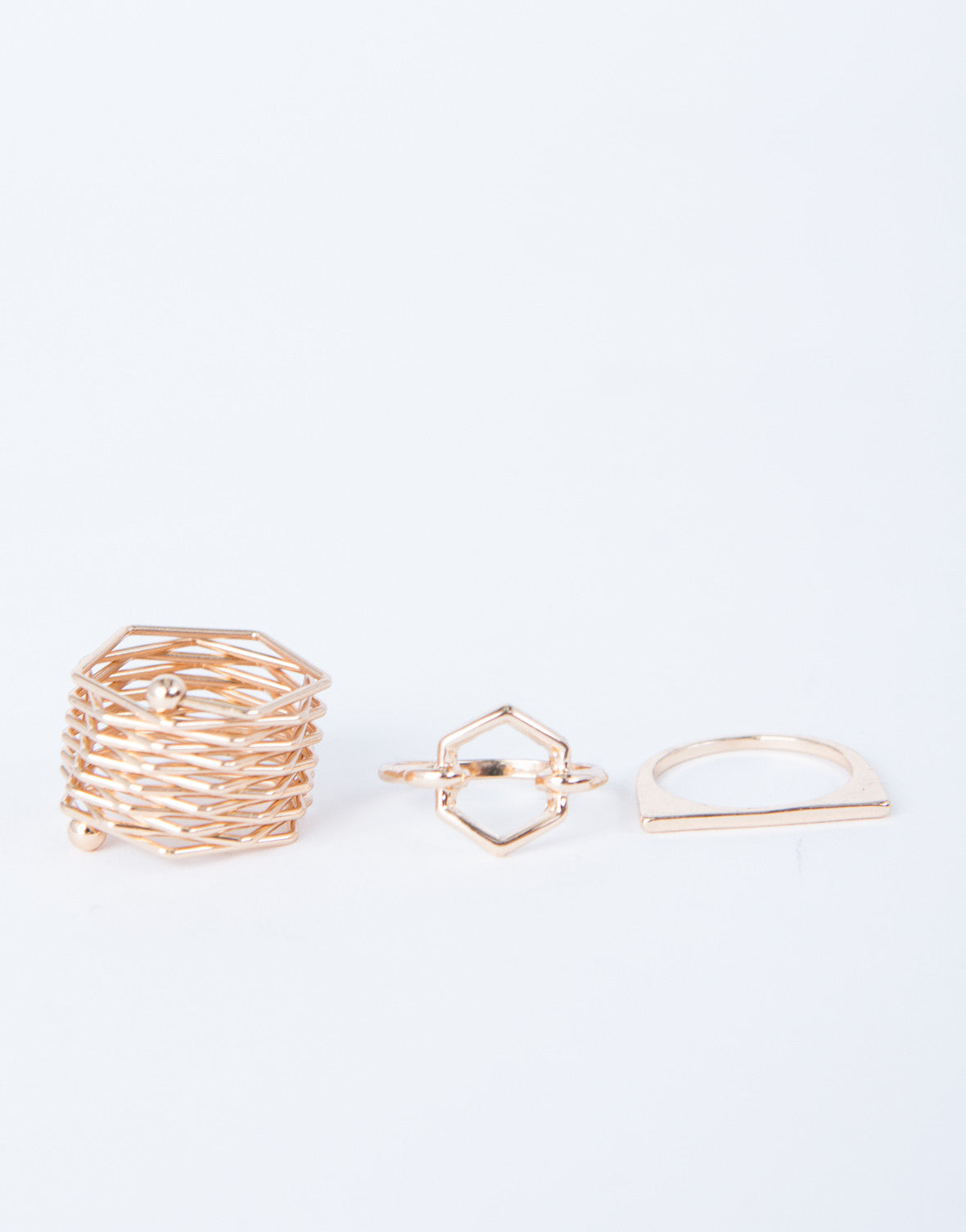 Hexagon Ring Set