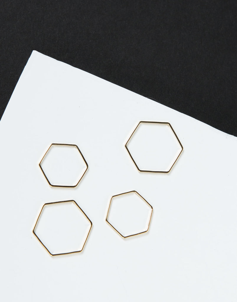 Hexagon Band Ring Set - 2020AVE