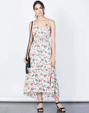Front View of Hidden in Floral Dress