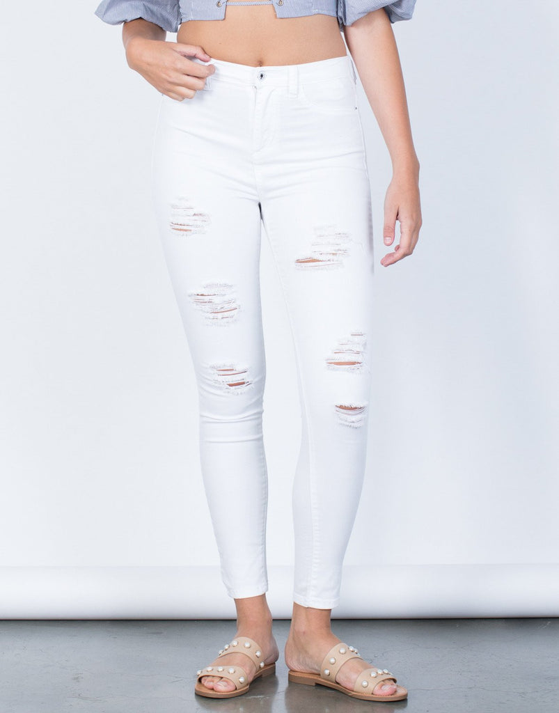 High Up Skinny Pants - 2020AVE