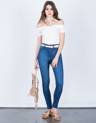High Waisted Skinny Jeans - 2020AVE