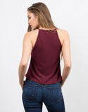 Back View of High Neck Flowy Tank