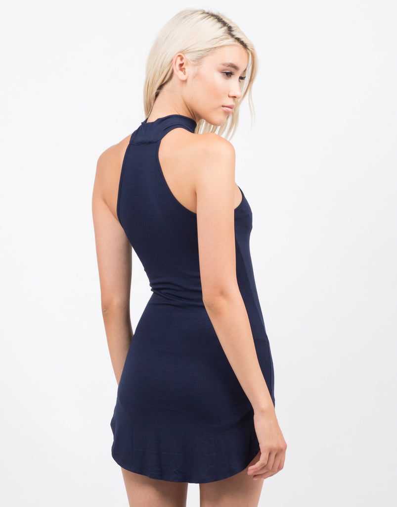 High Neck Mini Party Dress - 2020AVE