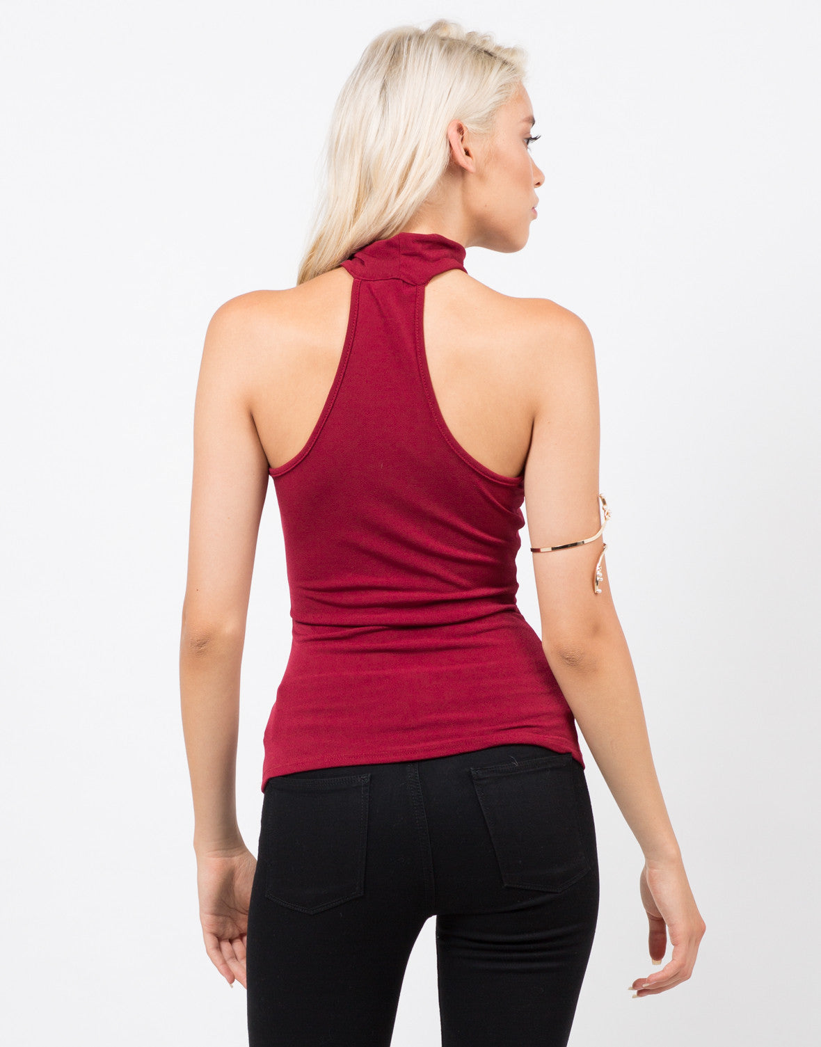 Back View of High Neck Tank