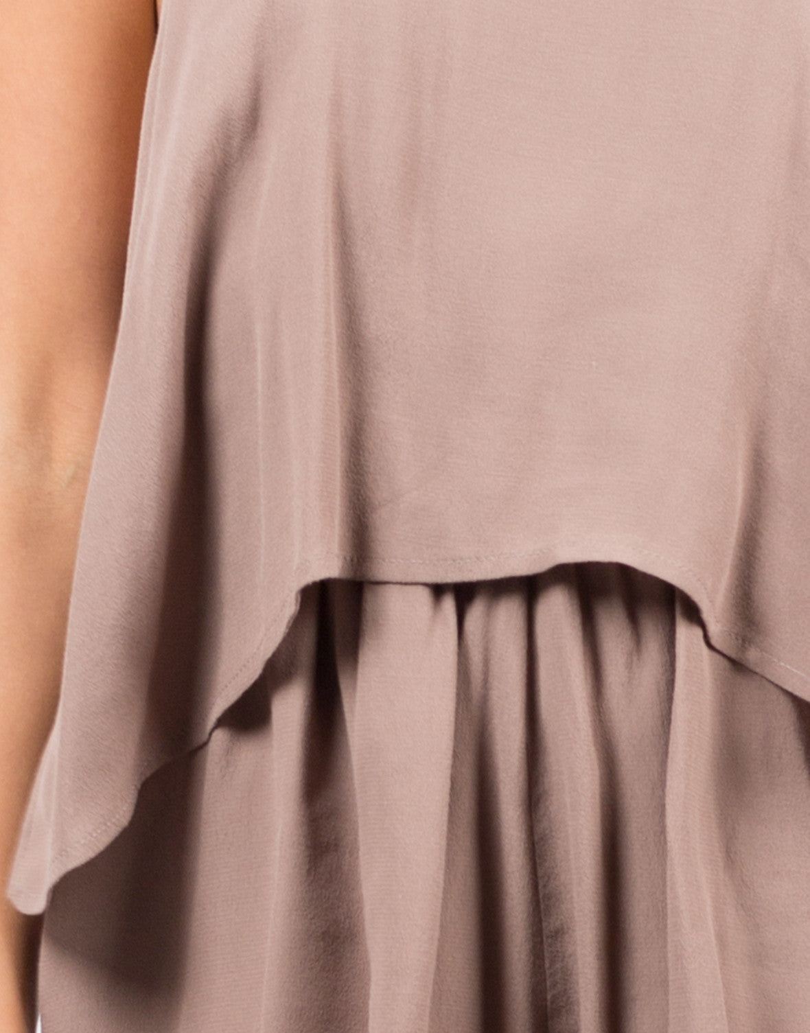 Detail of High Neck Tiered Romper