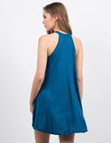 Back View of High Neck Trapeze Dress