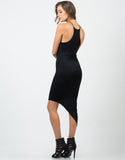High Neck Unbalanced Jersey Dress
