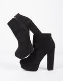 High Platform Suede Booties