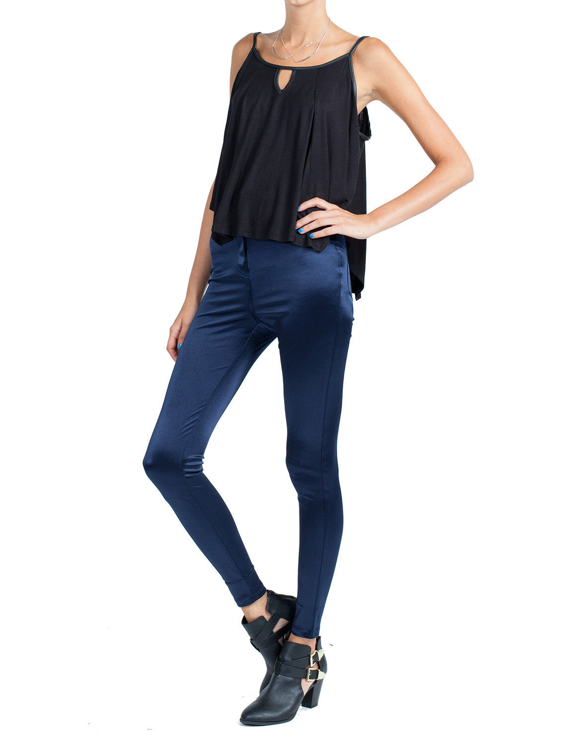 High Rise Silky Skinnies