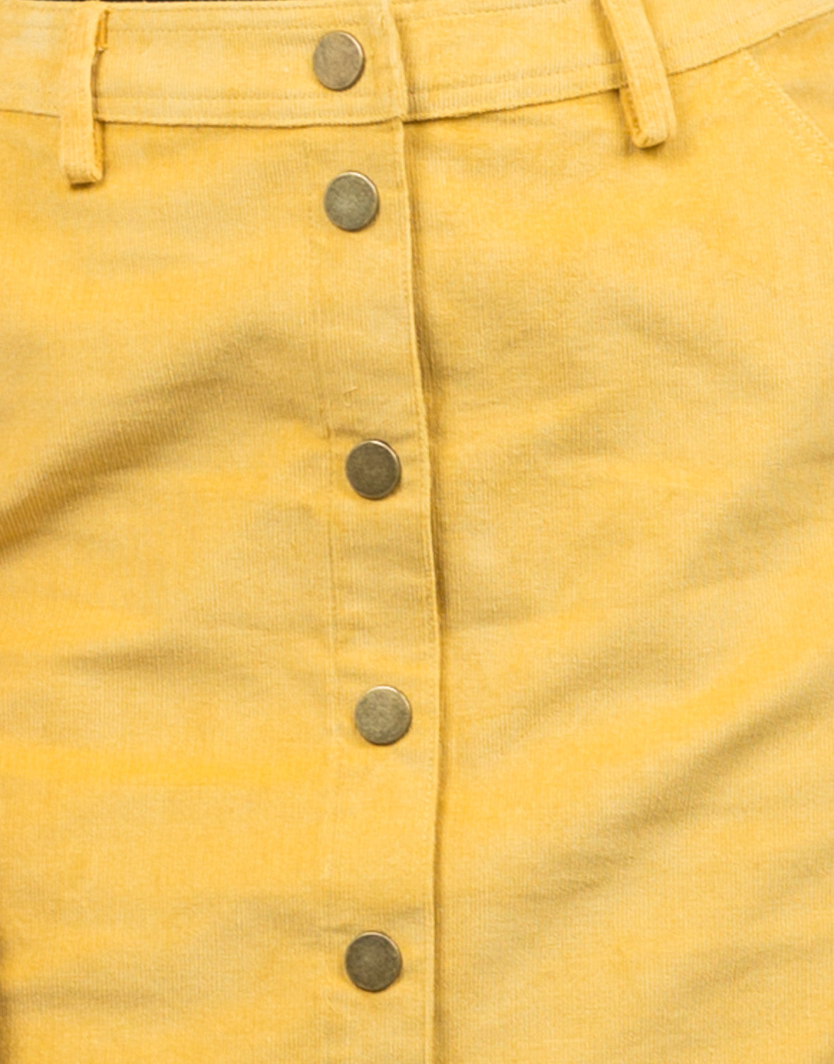 Detail of High Waisted Corduroy Skirt