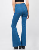 Back View of High Waisted Flare Pants