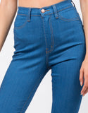 Detail of High Waisted Flare Pants