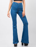 Front View of High Waisted Flare Pants