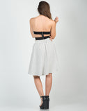 Back View of High Waisted Grid Skirt