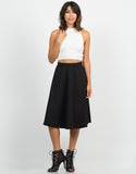 Front View of High Waisted Skater Skirt