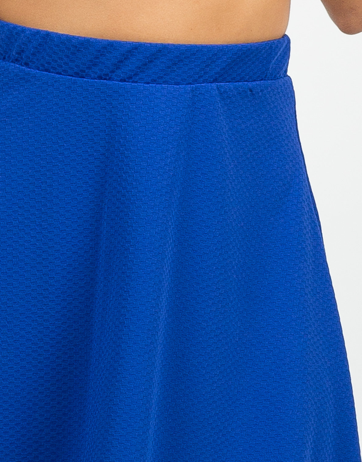 Detail of High Waisted Skater Skirt